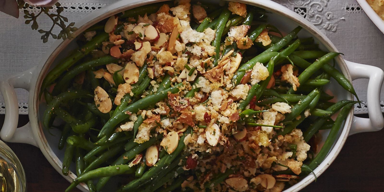 French Green Beans with Garlicky Almond Breadcrumbs Recipe