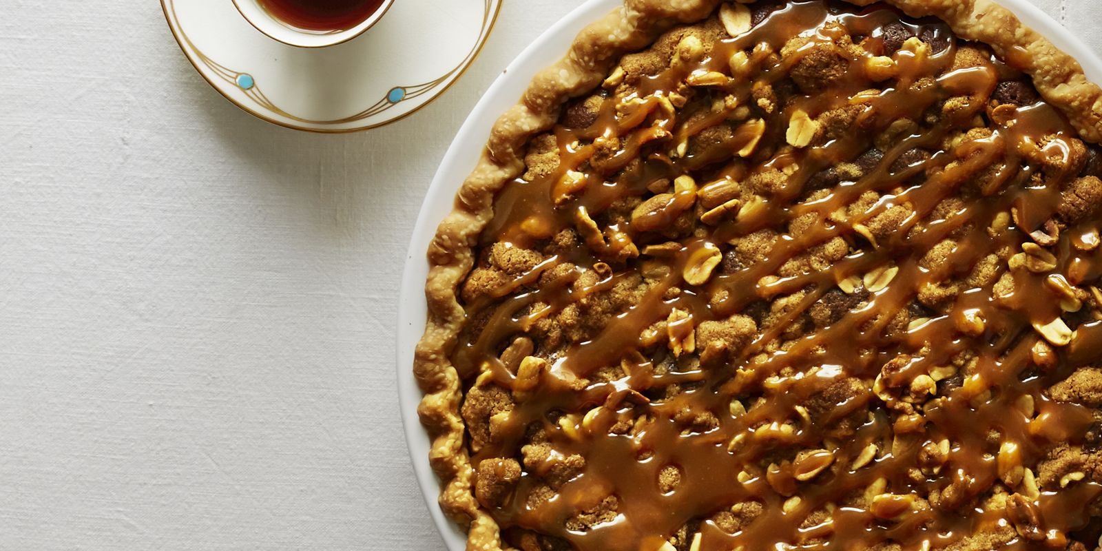Salted Caramel Peanut Butter Fudge Pie Recipe