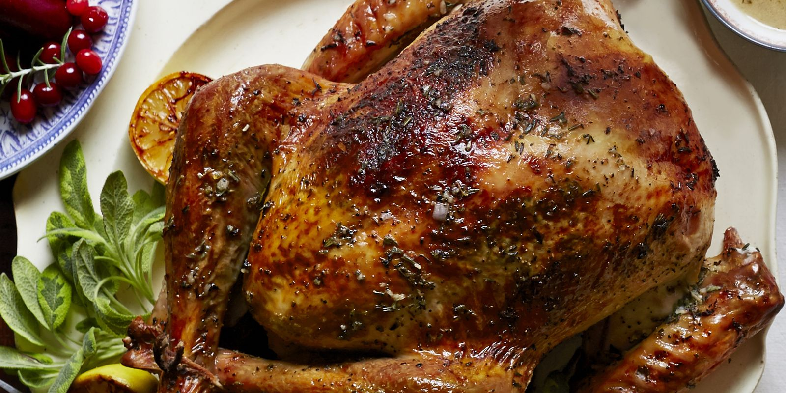 Herb and Citrus Butter Roasted Turkey Recipe