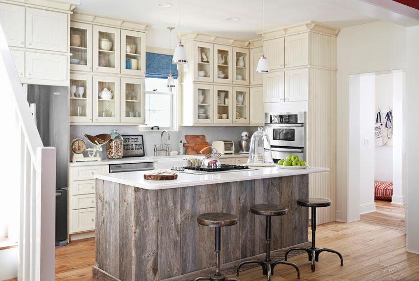 superb Center Island Designs For Kitchens #6: Country Living