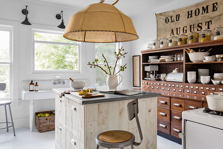 Superb Farm Style Kitchen Island Part - 13: Country Living Magazine