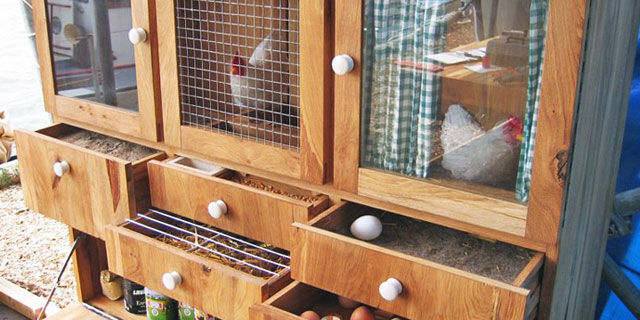 Would You House Your Chickens in This Repurposed Cabinet?