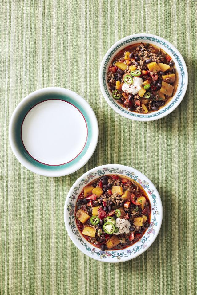 Pumpkin, Beef, and Black Bean Chili Recipe