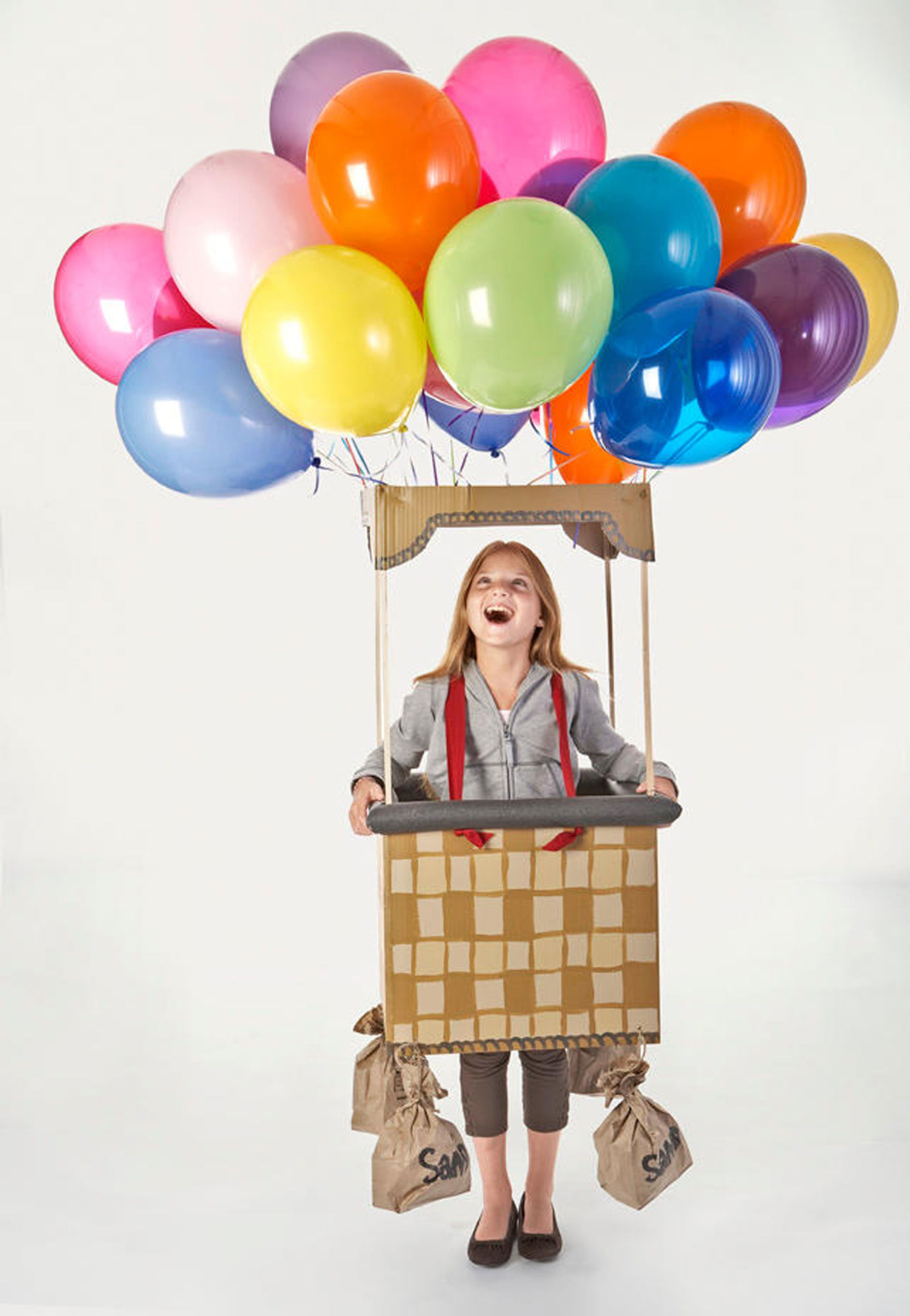 Hot air balloon costume for kids for Homemade halloween costumes for kids