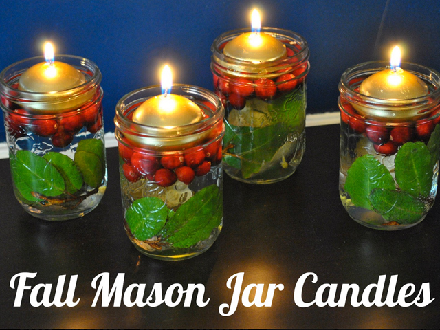 30 Mason Jar Fall Crafts - Autumn DIY Ideas with Mason Jars