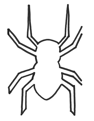 spider template resize as needed trace around the outside of the silhouette and cut along the drawn line