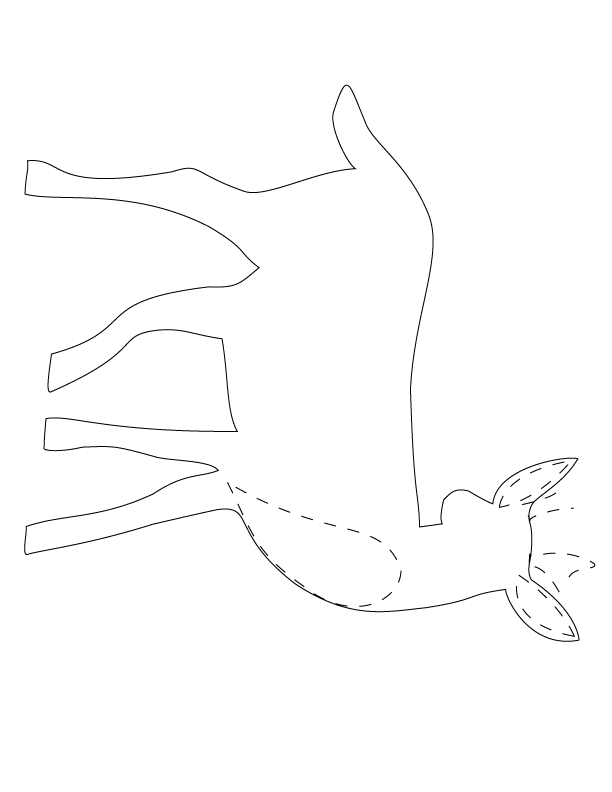 African Animal Template Shapes, Crafts