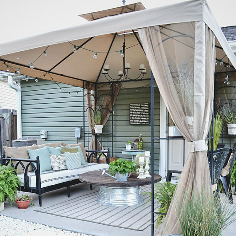 Liz Marie Blog Patio Before and After - Patio Decorating Ideas on Small Backyard Patio Ideas On A Budget id=88003