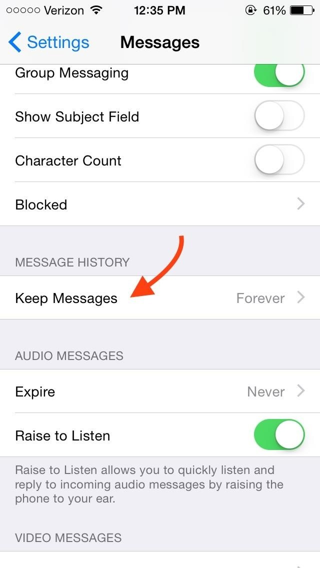 Keep Messages