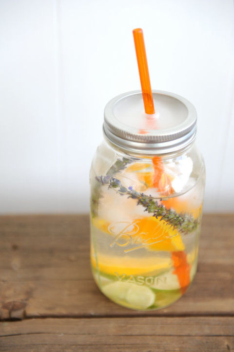 This sweet Mason jar tumbler works for cocktails, iced coffee, or even flavored water. Mason Jar Tumbler, $9.95; The Mason Bar Company