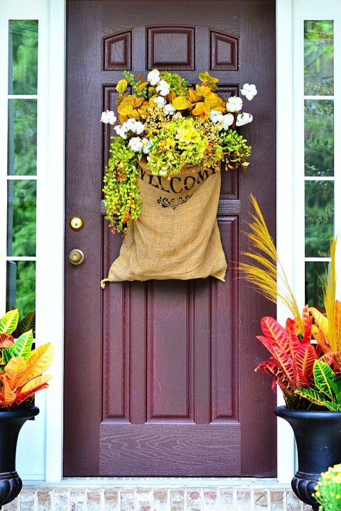 Burlap Decorating Ideas for Doors (Not Wreaths, BTW)