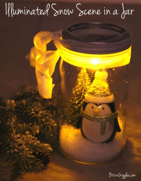 These tiny jars can double as the cutest Christmas nightlight for your little ones. Get the tutorial at Bitz & Giggles.