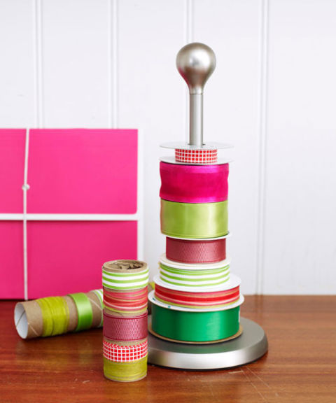 You already know paper towel holders are super nifty around your entire house, but they're even more helpful at the holidays. Just tug on the end of the pattern you want and decorate everything — from presents to wreaths — in a flash.