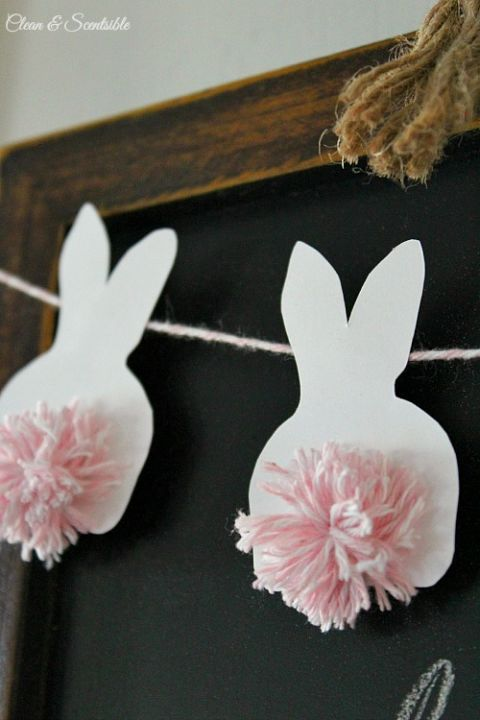 "Give new meaning to the term ""bushy bunny tail"" with these cleverly placed pom-poms. Get the tutorial at Clean and Scentsible."