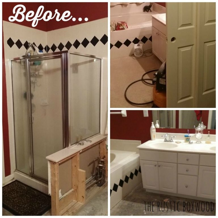 Our Bathroom Remodel was Shared on CountryLiving.Com! on Farmhouse Bathroom Remodel Ideas  id=91753