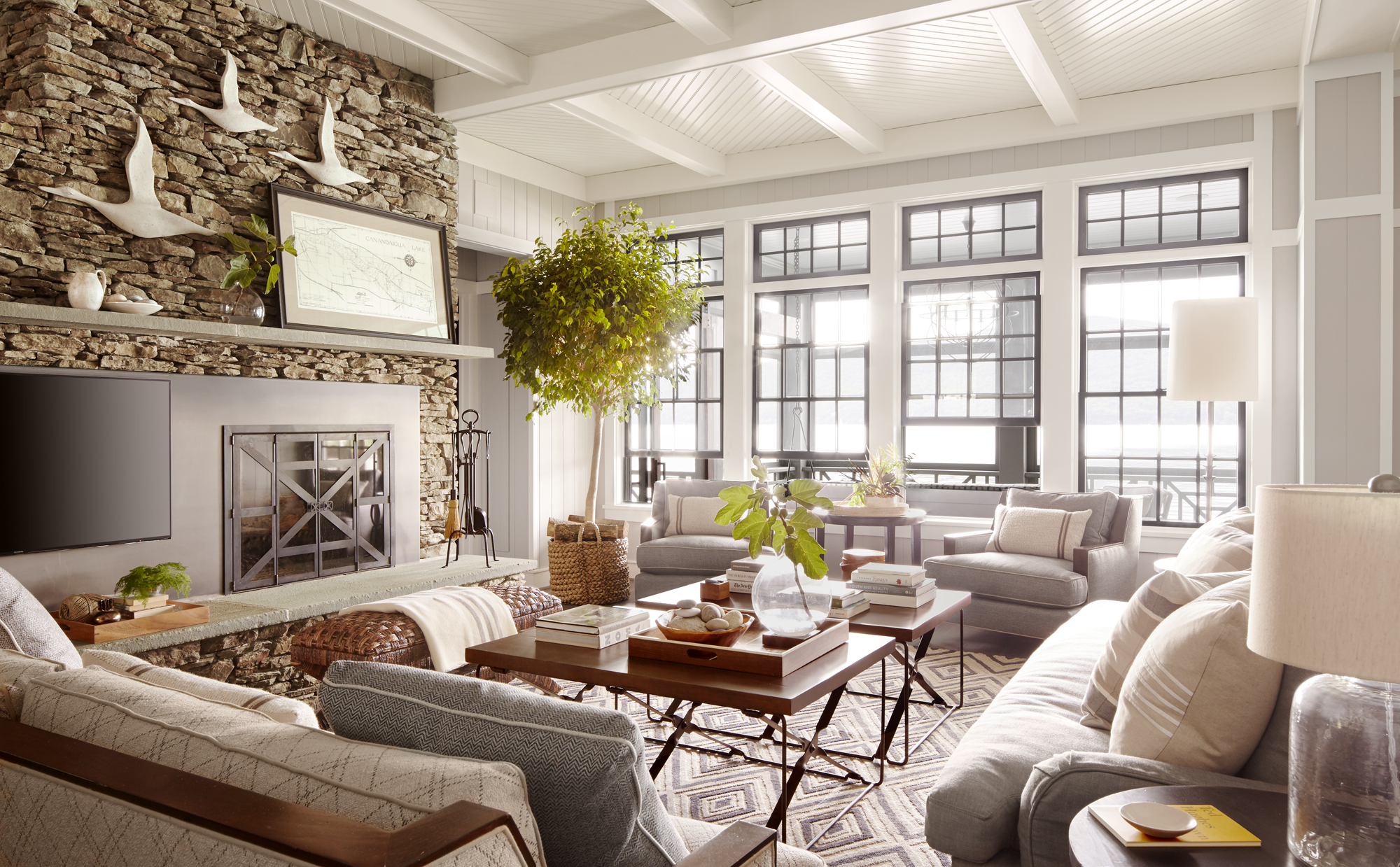 lake house living room decorating ideas thom felicia upstate new york lake house lake house 25480
