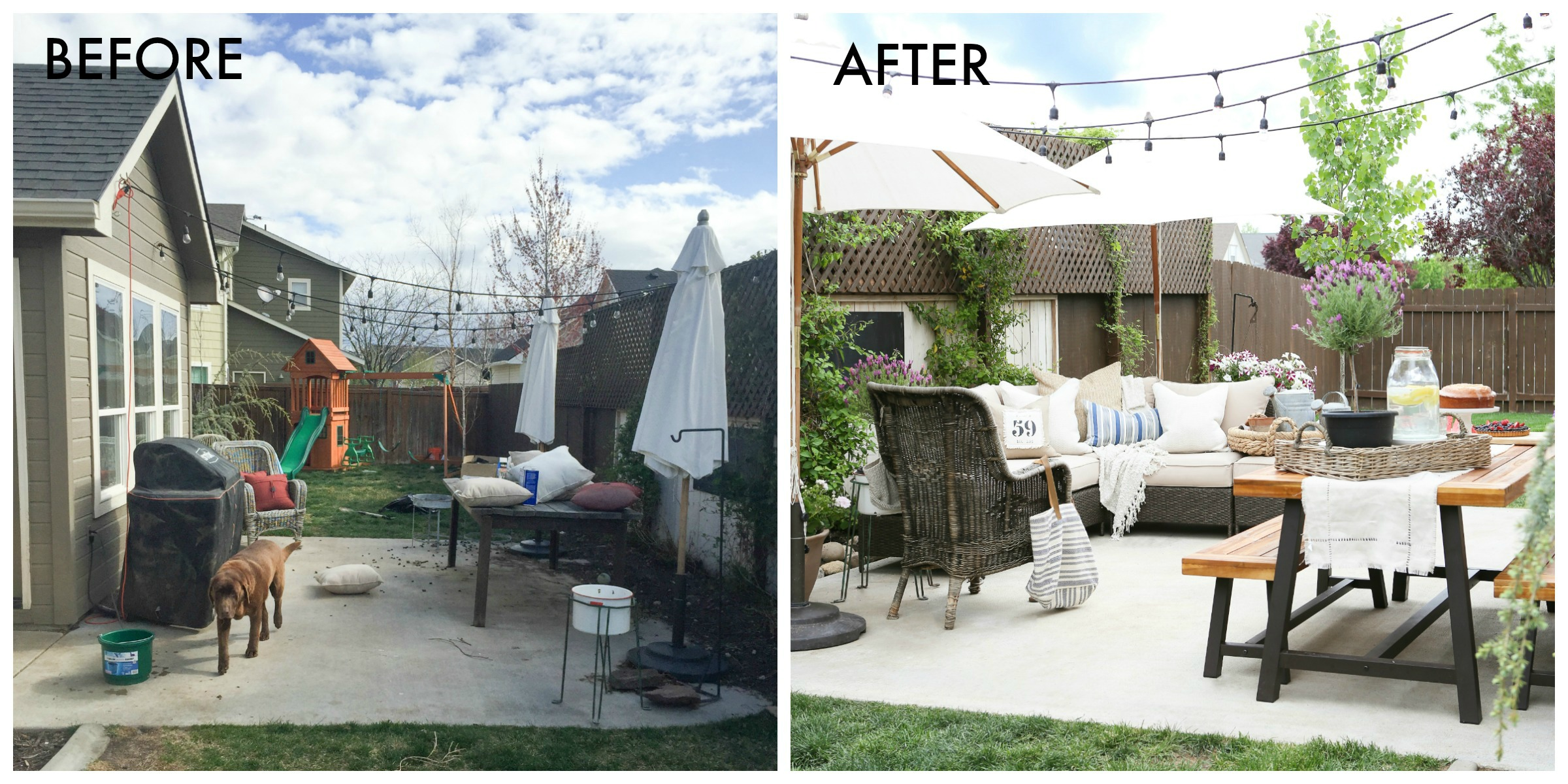 Patio Makeover Ideas — How to Update Your Patio For Summer on Outdoor Patio Makeover id=94175