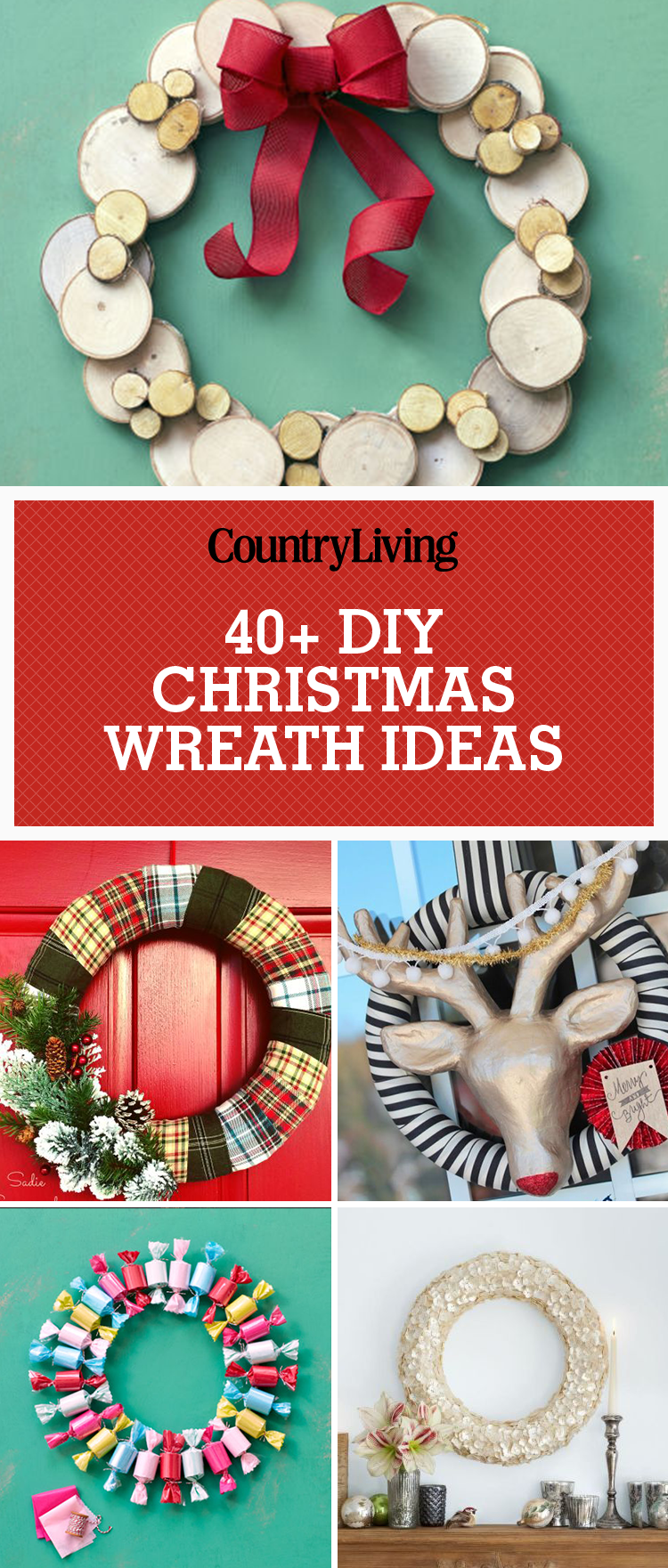 diy christmas decorations pinterest 40 diy christmas wreath ideas how to make 10717