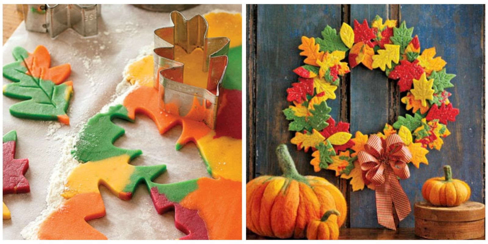 fall wreath craft ideas diy cookie leaf wreath project 4429