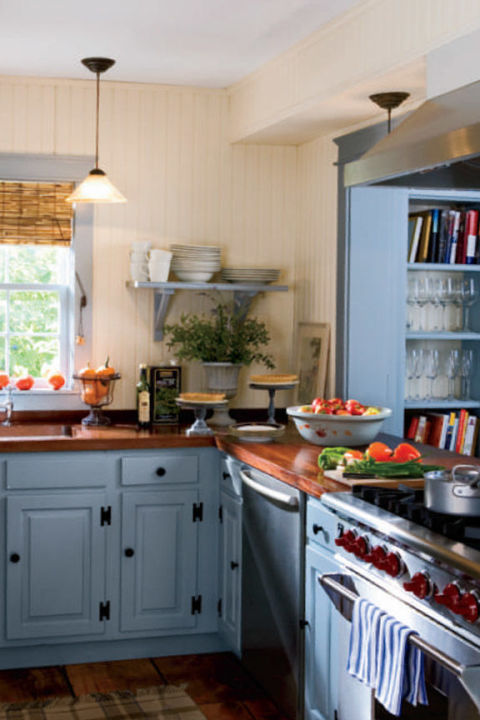 country blue kitchen cabinets 10 beautiful blue kitchen decorating ideas best blue 5938