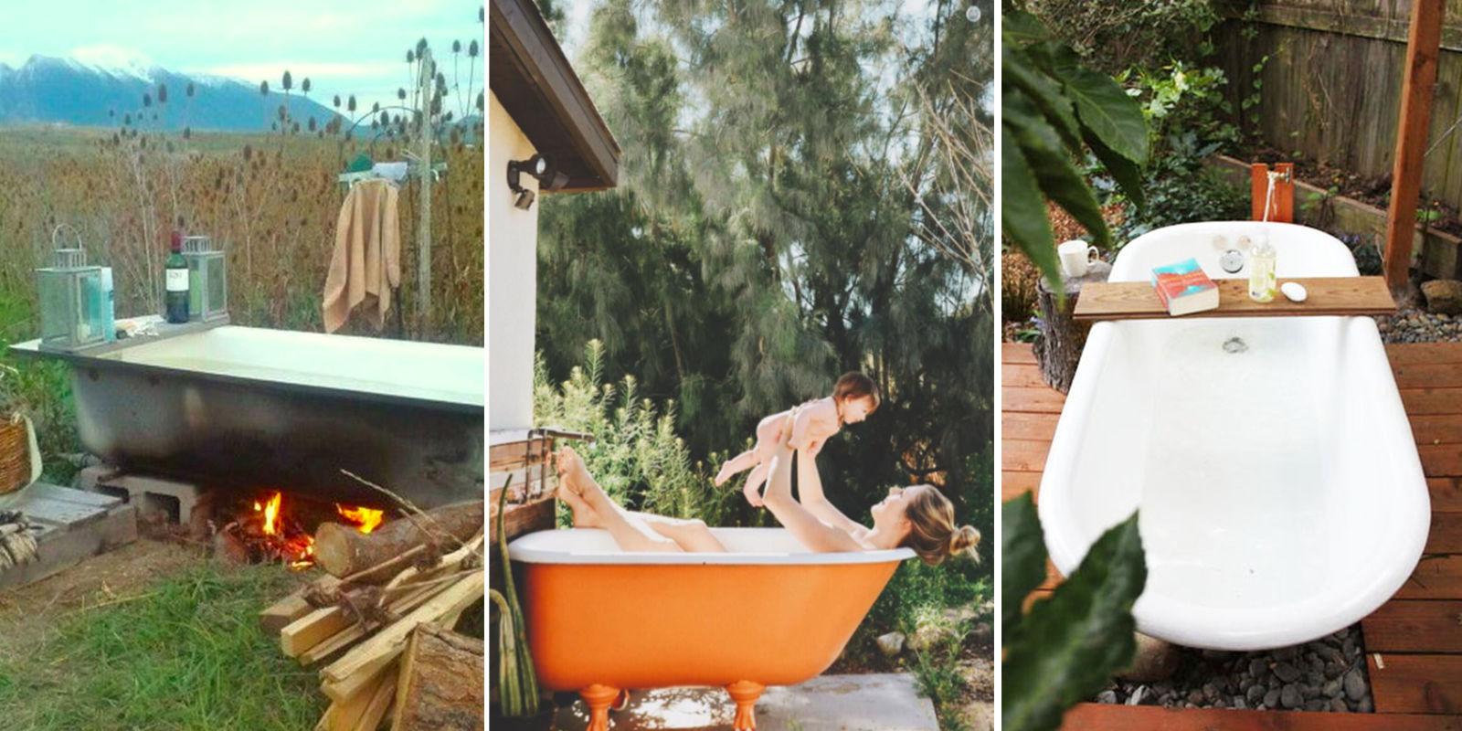 Backyard Bathtubs for Soaking Up the Great Outdoors ... on Backyard Bathroom Ideas id=41237