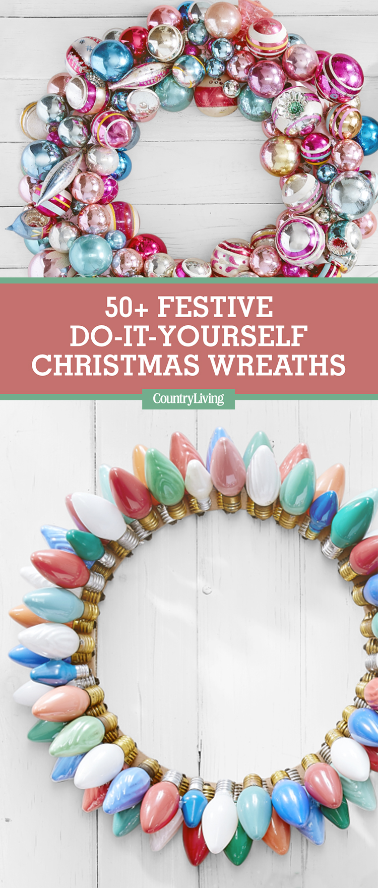 christmas decorations craft ideas 50 diy wreath ideas how to make 3612