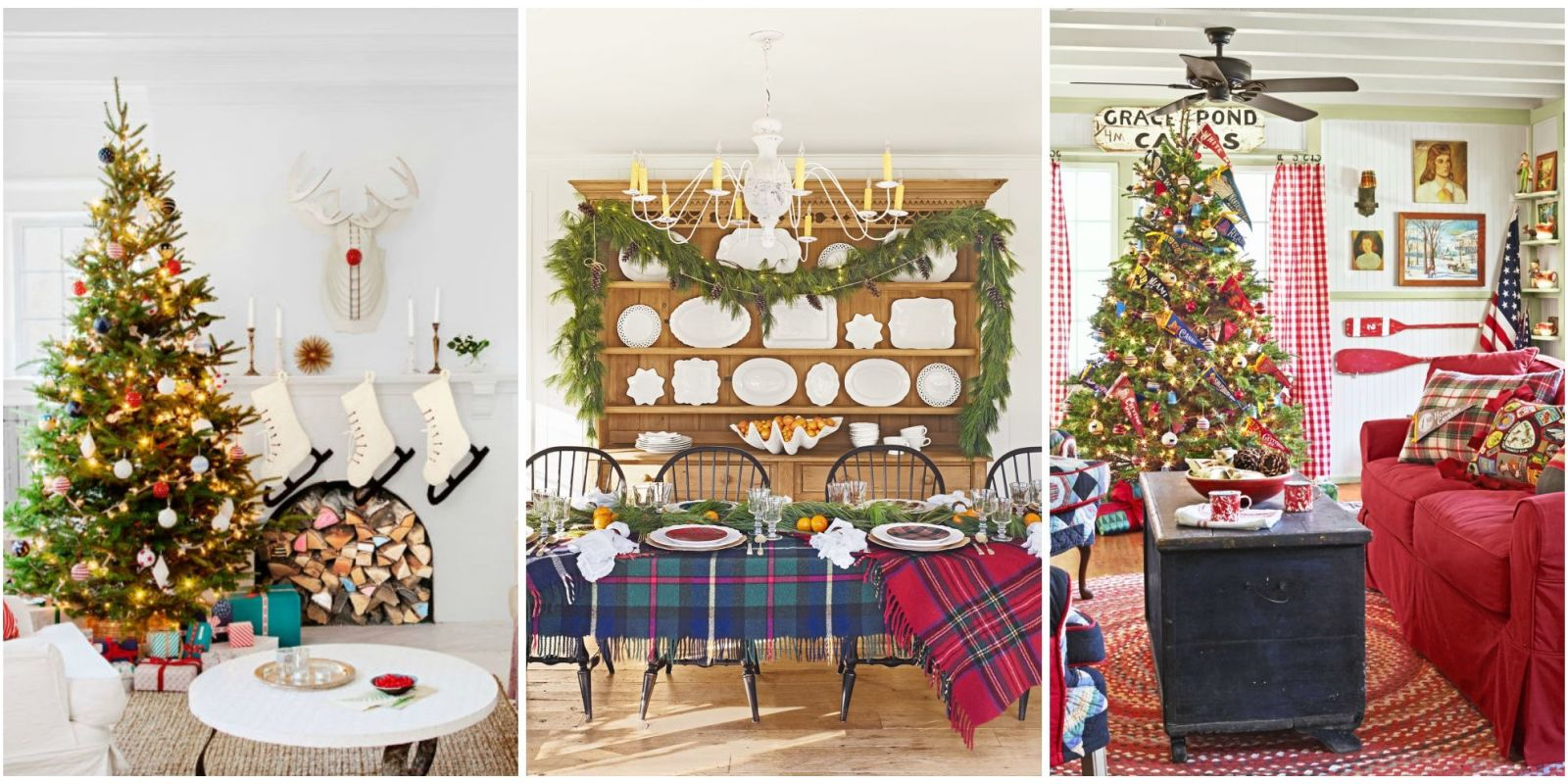 christmas house decorations 30 best home tours houses decorated for 12367