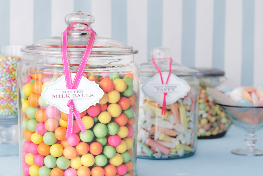 jars of candy