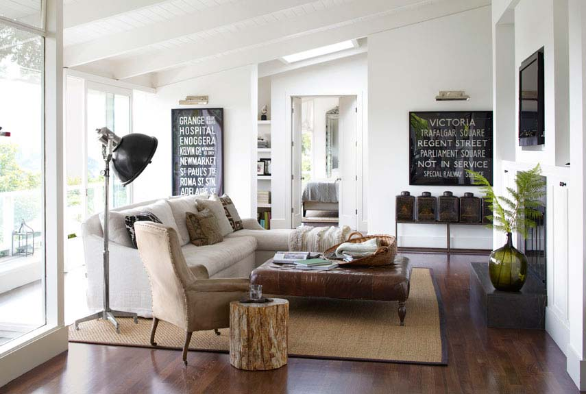 Cozy Living Room Open Floor Plan Decorating Modern Ranch House