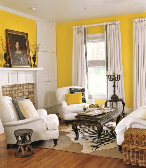 yellow wall living room yellow rooms home design 15049