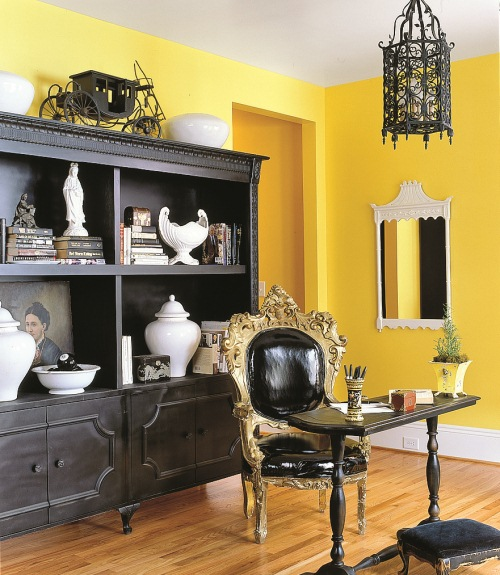 Perfect Decorating With Yellow Walls Living Room Vignette - Wall ...