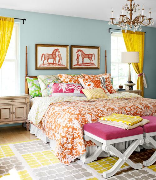 bright coloured bedrooms | Nrtradiant.com